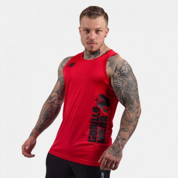 6814bd33 Rockford Tank Top Red - Fitnessmafia - Quality Clothes & Gear